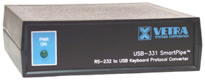 USB-331 RS-232 to USB Keyboard Protocol Converter
