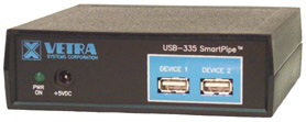 USB-335 RS-232 to USB Keyboard Protocol Converter w/ 2 port hub