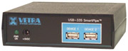 USB-335 RS-232 serial to USB keyboard protocol converter w/ 2 port hub