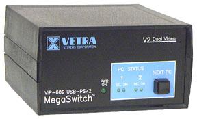 VIP 602 KMV2 2 Port Dual Head USB