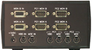 VIP-802-KMV2 KVM Switch (rear view)