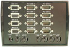 rear view VIP-802-KMV4 Quad-Head KVM Switch