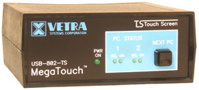 Front of USB-802-TS USB touch screen Switch
