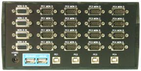 USB-804-KMV4, 4 Port Quad-Head USB KVM Switch