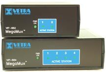 picture of VIP-882 and VIP-884 KVM Splitter / Multiplexers